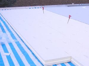 Wärmedämmung auf einem Flachdach