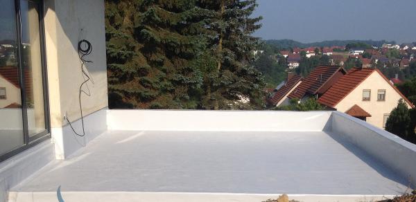 Terrassen-Abdichtung mit Kunststoffbahn